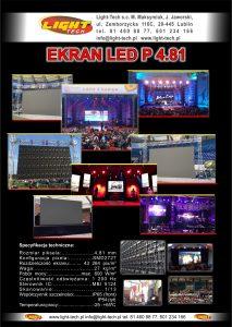 Ekran LED P 4,8